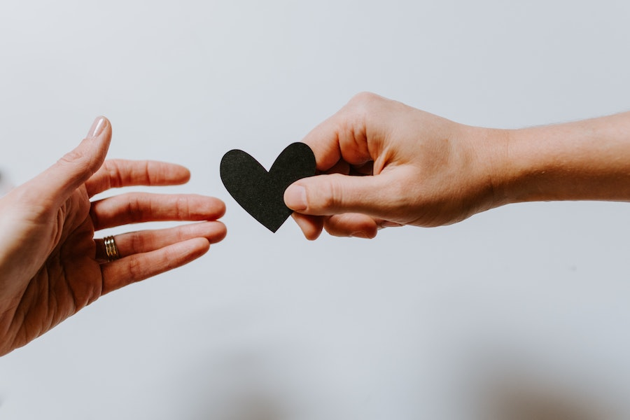 love, share, heart, hands